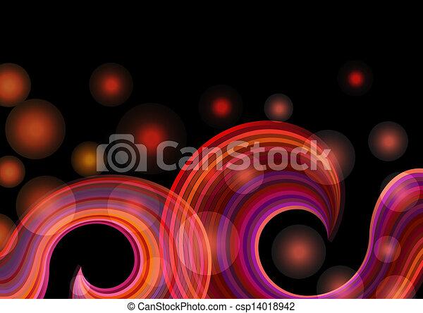 Abstraer ondas arcoiris vector de fondo. - csp14018942