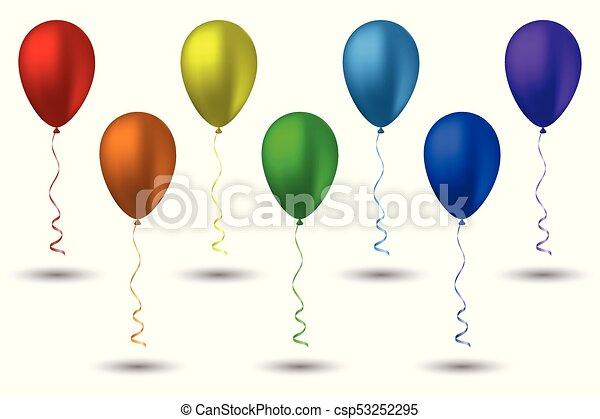 Arco irirs siete globos colores Siete ilustracin colores