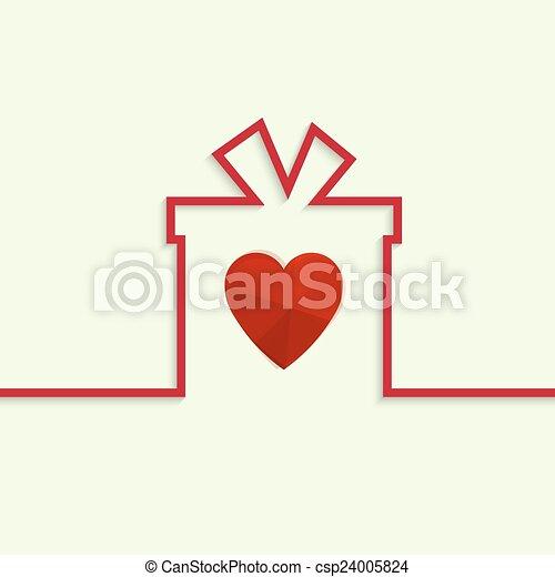 Una caja de regalos con un arco - csp24005824