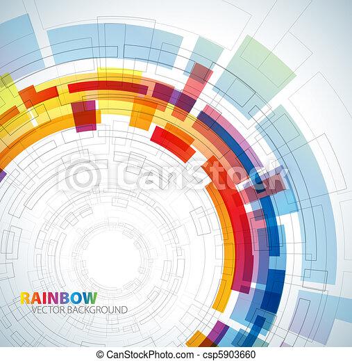 arcobaleno, astratto, colori, fondo - csp5903660