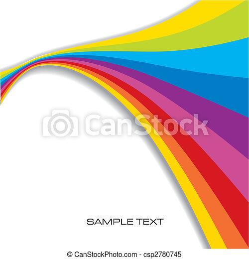 arcobaleno, astratto, fondo - csp2780745