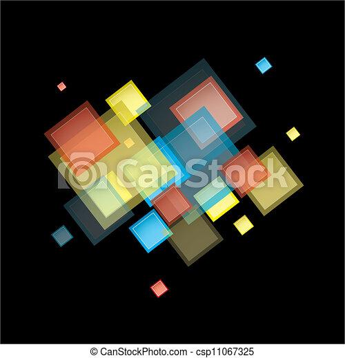 arcobaleno, astratto, quadrato - csp11067325