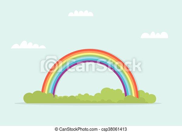 arcobaleno, paesaggio - csp38061413