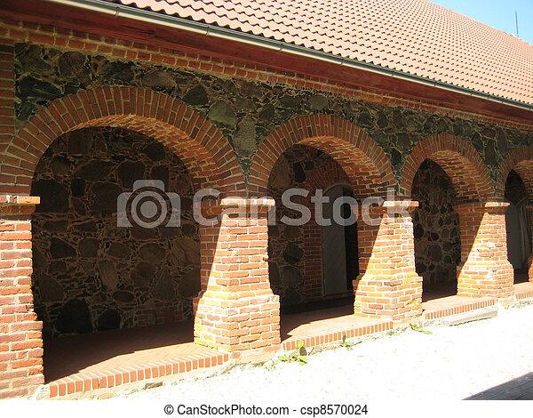 Fotograf a de archivo de arcos ladrillo csp8570024 for Arcos de ladrillo