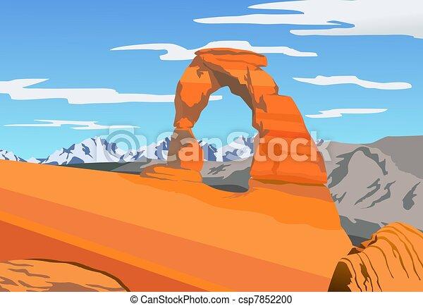 La ilustración del parque de arcos - csp7852200