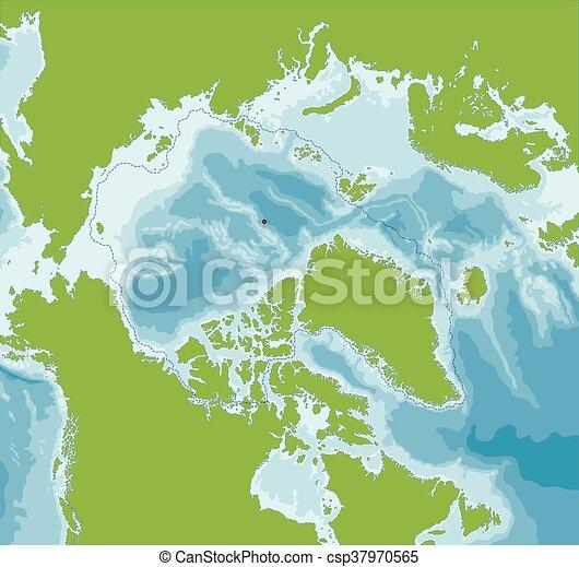 Arctic Ocean map - csp37970565