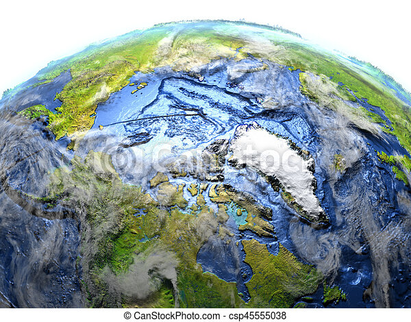 Arctic Ocean On Earth Visible Ocean Floor Arctic Ocean On 3d