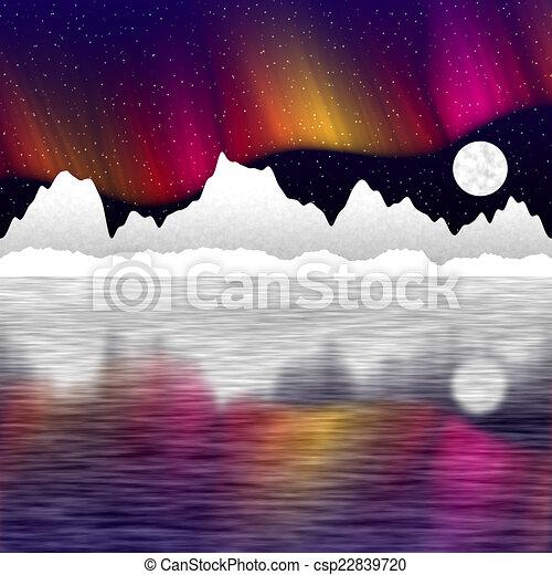 Arctic pole landscape generated hires background - csp22839720