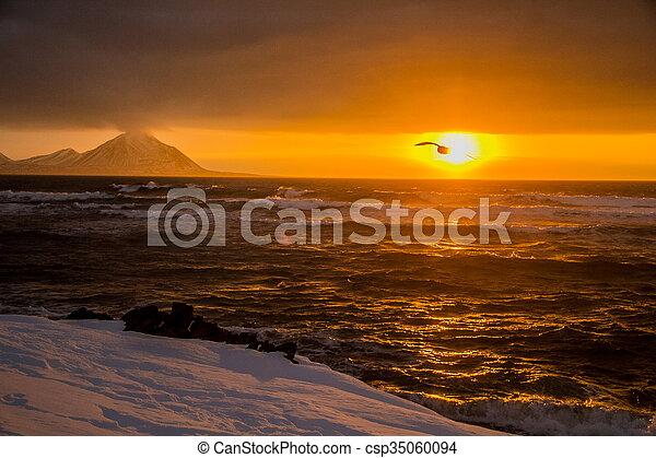 Arctic views in south Spitsbergen. - csp35060094