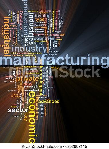 ardendo, manifatturiero, parola, nuvola - csp2882119