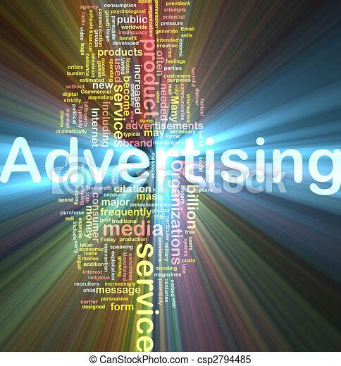 ardendo, parola, pubblicità, nuvola - csp2794485
