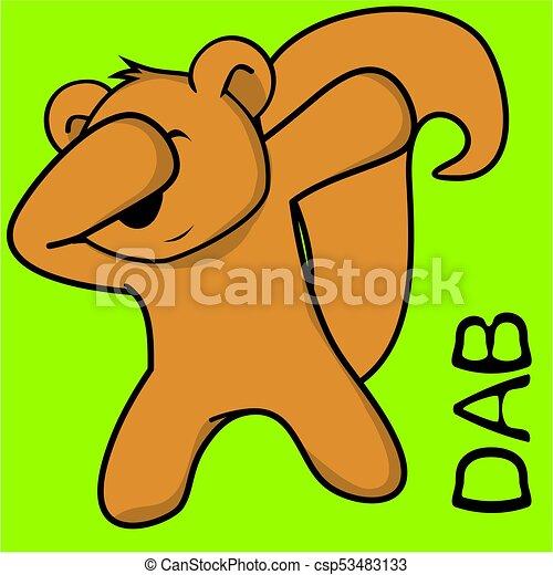 Un dibujo animado de niño ardilla - csp53483133