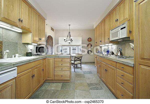ardoise moderne cuisine plancher bois ardoise photographie de stock rechercher des. Black Bedroom Furniture Sets. Home Design Ideas