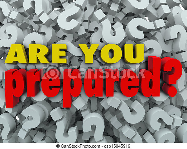 Are You Prepared Question Ready Evaluation Assessment - csp15045919