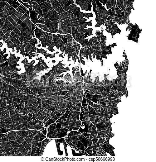 area map of sydney australia csp56666993