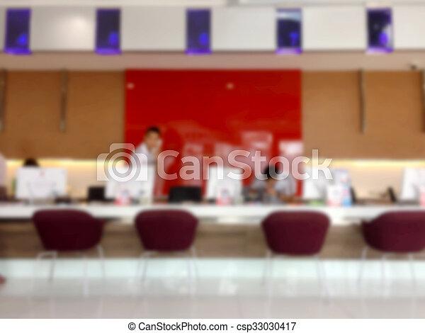 Servicio de oficina, zona de recepción borrosa. - csp33030417