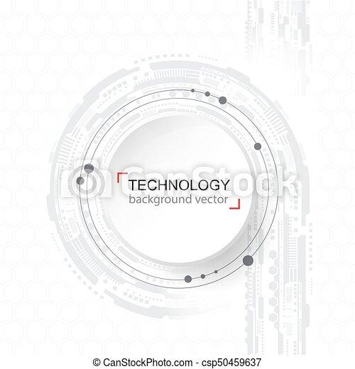 area., réseau, technologie, texte, résumé, échantillon, arrière-plan., fond, numérique, blanc, hightech, concept. - csp50459637