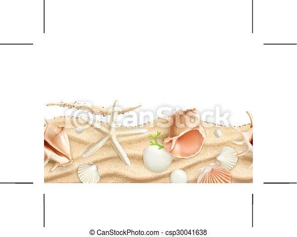 Conchas marinas en arena - csp30041638