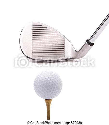 Bola de arena y de golf - csp4879989