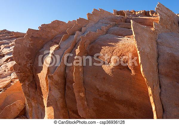 La erosión del viento en Nevada - csp36936128