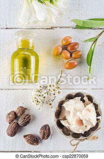 Argan and shea nut - csp22870059