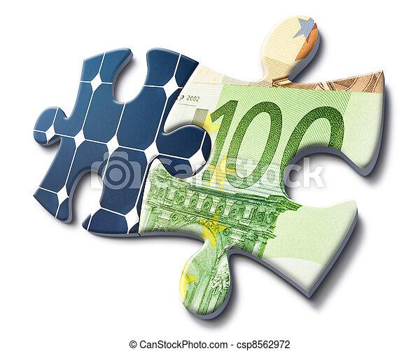 argent, énergie, économie, solaire - csp8562972