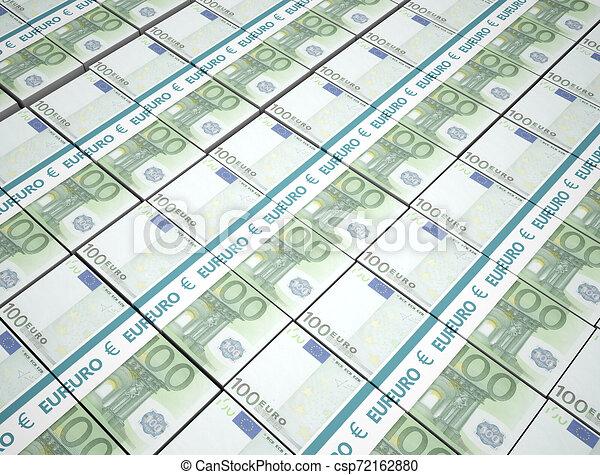 argent, 100, paquets, fond, euros - csp72162880