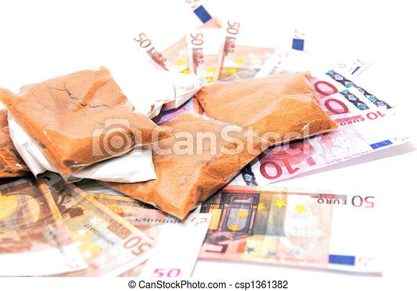 argent, 3, drogue - csp1361382