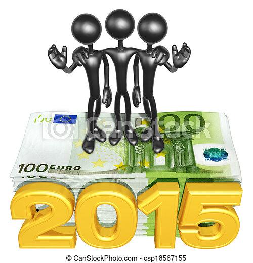 argent, année, pile, équipe - csp18567155