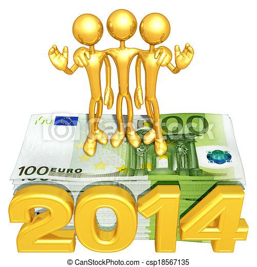 argent, année, pile, équipe - csp18567135