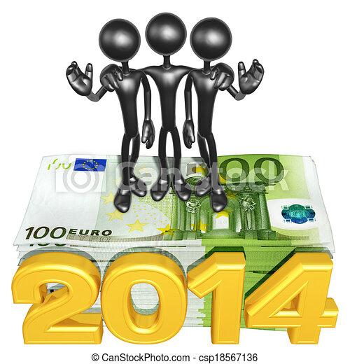 argent, année, pile, équipe - csp18567136