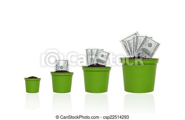 argent, concept, croissance - csp22514293