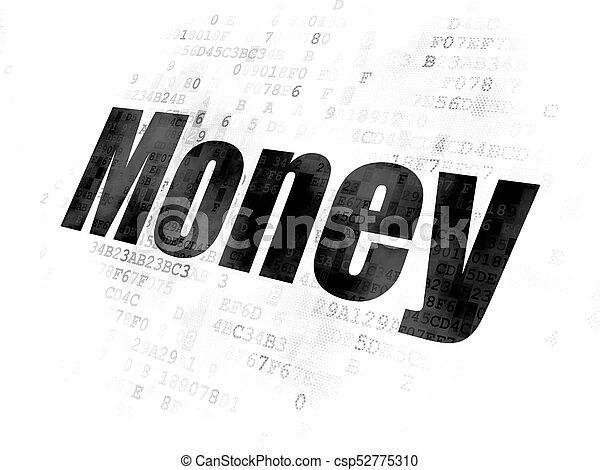 argent, concept:, finance, fond, numérique - csp52775310