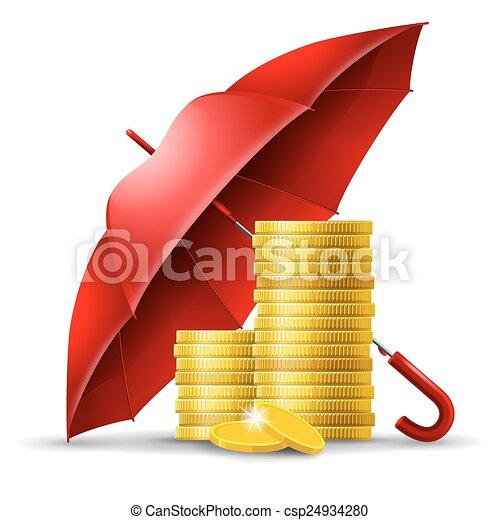 argent, concept, sécurité - csp24934280