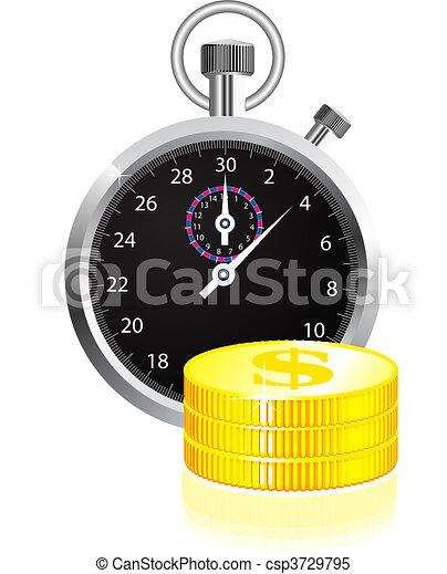 argent, concept, temps - csp3729795