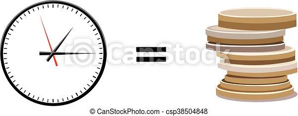 argent, concept, temps - csp38504848