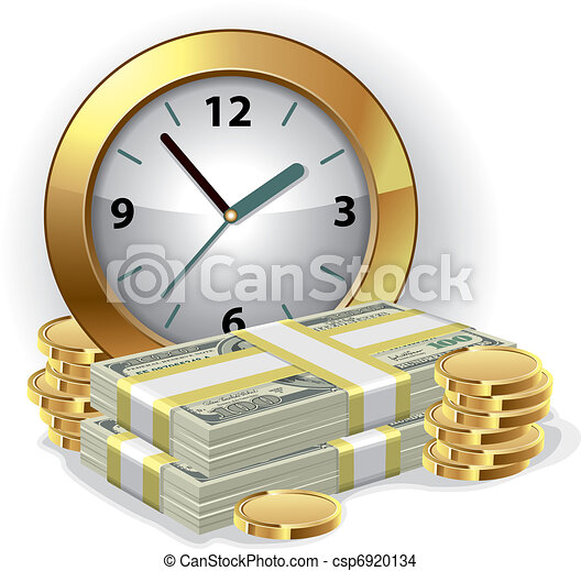 argent, concept, temps - csp6920134