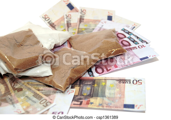 argent, drogue - csp1361389
