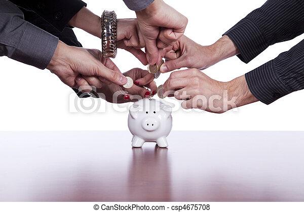 argent, groupe, économie, gens - csp4675708