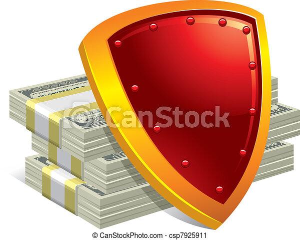 argent, protection, paiements - csp7925911