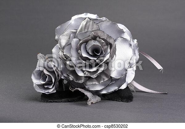Rose Grise Artificielle Florimont