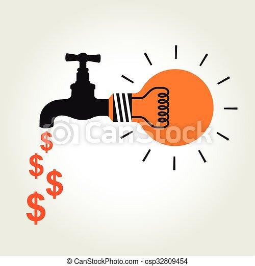 argent, robinet, idée - csp32809454