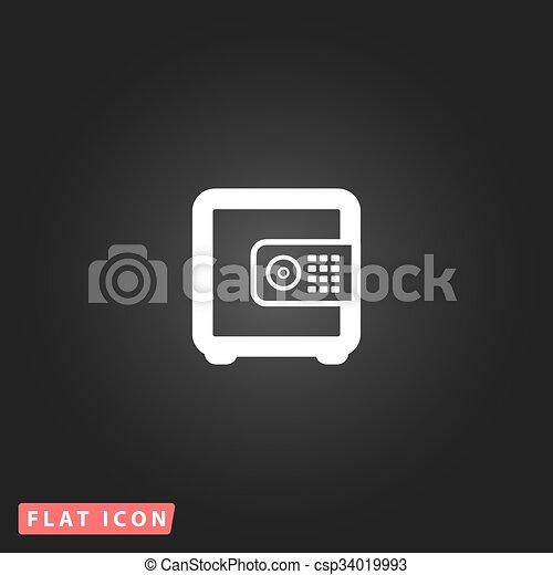 argent, sûr, icône - csp34019993