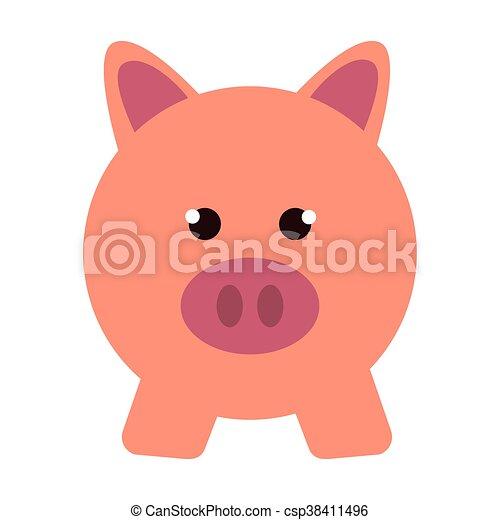 Argent sauver tirelire cochon argent isol - Tirelire dessin ...