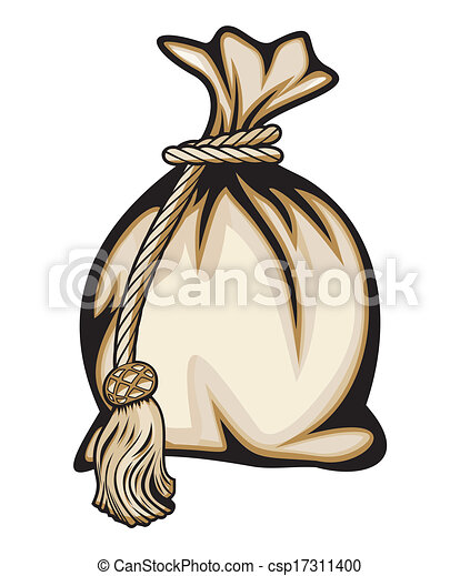 argent, vecteur, illustration, sac - csp17311400