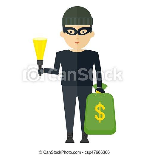 argent, voleur, sac - csp47686366