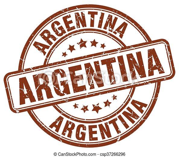 Argentina brown grunge round vintage rubber stamp - csp37266296