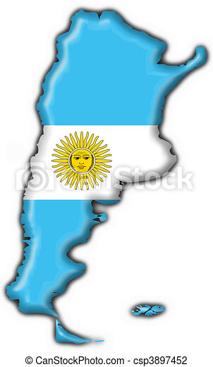 Argentina Button Flag Map Shape D Made Clip Art Search - Argentina 3d map