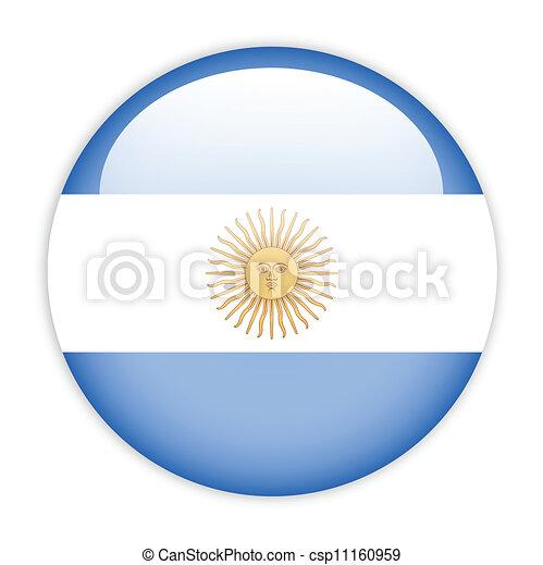 Argentina flag button - csp11160959
