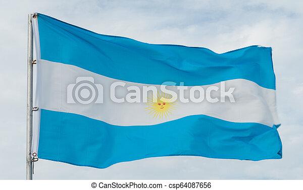 Argentina Flag - csp64087656